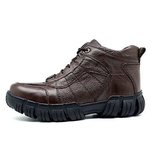 Otoño E Invierno En Los Zapatos De Ayuda Zapatos Antideslizantes De La Versión Coreana Zapatos Casuales De Los Hombres Singlebrown