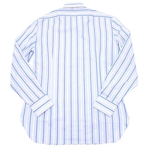 0377 camicia BARBA NAPOLI uomo shirt men BASE AZZURRO