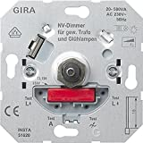 Gira 226200 - Regulador de Intensidad con presión (Interruptor Doble, 40-500 V AC)