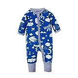 BIG ELEPHANT 1 Piece Baby Boys' Zip up Long Sleeve Romper Pajama O74