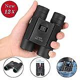 12X25 Compact Small Binoculars for Adults Kids Mini Pocket Folding Lightweight Binoculars