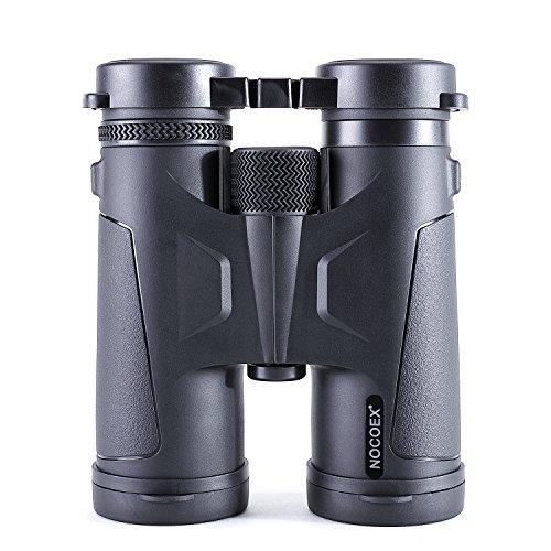 NOCOEX 10x42 BAK4 Dachprismen Fernglas Testsieger, Professionelles Fernglas, Geeignet für Outdoor-Aktivitäten - Schwarz