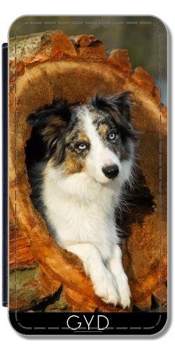Leder Flip Case Tasche Hülle für Apple Iphone 7 / Iphone 8 - Border Collie, Ein Niedlicher Hund by Katho Menden Simili-Cuir
