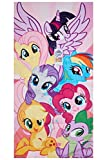 My Little Pony 70 x 140 cm Strandtuch mit Motiv von Spike, Applejack, Pinkie Pie, Rarity,...