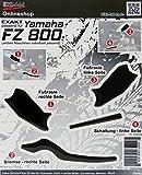 Repose-pied et pédales 5500823D Deco de protection Pads 3D Black Convient pour Yamaha FZ 800