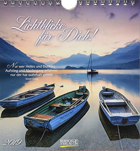 Lichtblicke 2019: aufstellbarer Postkartenkalender