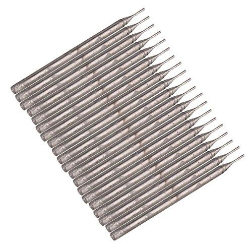 WEONE plata de 0.6mm Broca de diamante recubierto Bits Brocas Mármol agujero de cristal de cerámica consideró la herramienta (Pack de 20)
