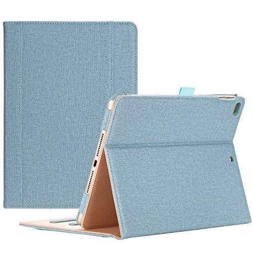 ProCase iPad 9.7 Hülle 2017 iPad 5th Generation Hülle - Weinlese-Folio-Standplatz-Abdeckungs-Fall für neues 2017 Apple iPad 9.7 Zoll, passen auch iPad Luft 2 / iPad Luft, mit mehrfachen Betrachtungs-Winkeln, Dokument-Karten-Tasche -Knickente