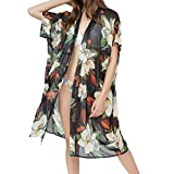 TianWlio Damen Badeanzug Cover Up Bikini Badeanzug Bademode Häkeln Kleid Schwarz One Size