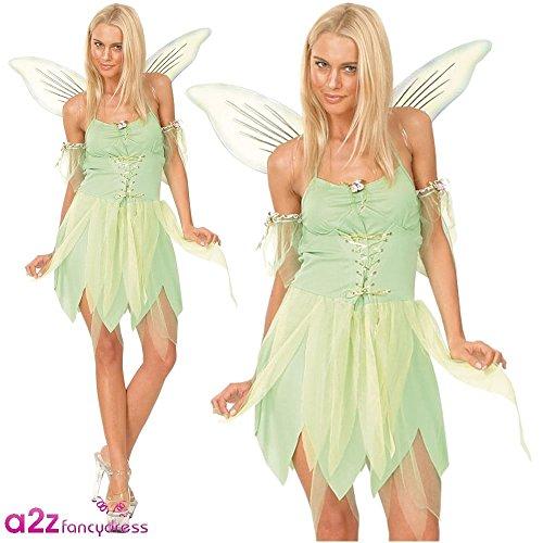 Kostüme Tinkerbell Und Pan Peter Halloween (Fee Glöckchen Tinkerbell Peter Pan Nimmerland Karneval Halloween Kostüm)