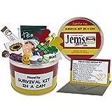 Survival Kit In A Can - Caja para regalo de aniversario. Regalo divertido - Para aniversario de una pareja o aniversario de boda, regalo y tarjeta todo en uno. Para padres/amigos/abuelos etc. Personalizable