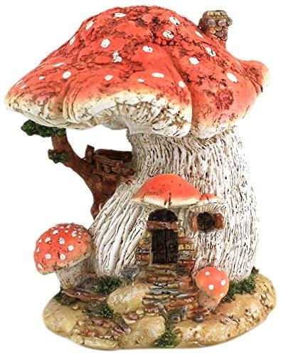 Top Collection Miniatur-Fairy Garden und Terrarium Red Mushroom Fairy House -