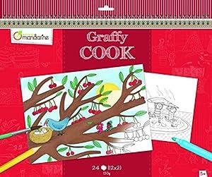 """Avenue Mandarine """"de Alimentos Tema graffy Cook Color su Propio Lugar ((Black/White)"""