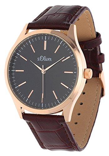 s.Oliver Men Watch brown SO-15145-LQR