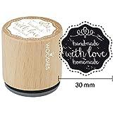 Woodies montiert Gummi Stempel 1.35-inch mit Love Homemade, Acryl, mehrfarbig, 3-teilig