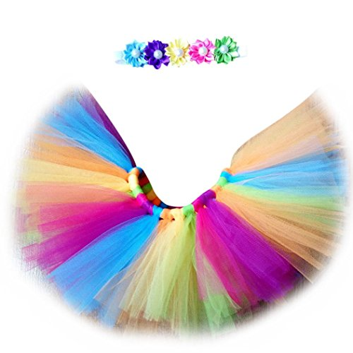 SMARTLADY Bebé Niñas Tutú Vestidos Disfraz de colores, Moda Fotografía Trajes + Cinta de pelo