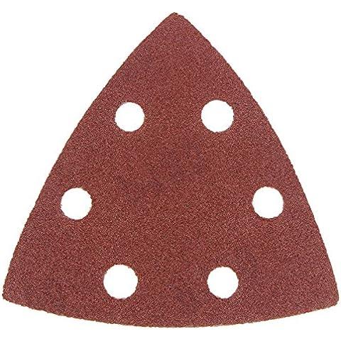 Yongse Hoja lijadora triangular 180 Grit herramienta multi oscilante del papel de lija 90x90x90mm