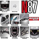 Nolan N87 Special Plus Integralhelm Motorrad Polycarbonat n-com - grafitschwarz Größe M