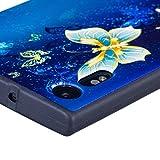 Crisant 3D Goldschmetterling Drucken Design weich Silikon TPU schutzhülle Hülle für Sony Xperia XZ / XZS,Premium Handy Tasche Schutz Case Cover Crystal Bumper Schale für Sony Xperia XZ / XZS -