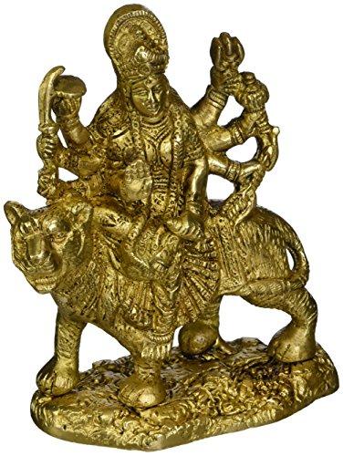 ShalinIndia Durga Hindu Goddess Religious Statue Brass Figurines