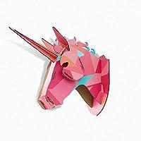 Grande in testa di unicorno mi Rosa