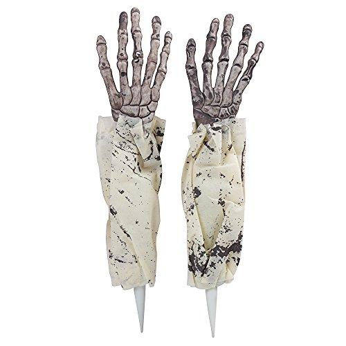 rror Requisiten Skelett Hand Haunted House Party Dekoration (Gelb) (Halloween Skelett Requisiten)