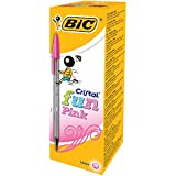 BIC Cristal Fun Stylos-Bille Pointe Large (1,6 mm) - Rose, Boîte de 20