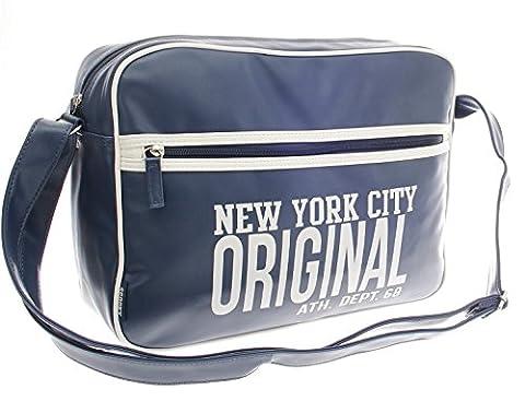 Schule Uni Büro Arbeit Schultertasche Aktentasche Flugbegleiter Laptop Umhängetasche Business Messenger Bag Notebook Tasche Black NEU … (Dunkelblau)