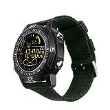 GXY Intelligente Uhr Militär Outdoor-Sport Metall Shell Telefon Informationen Erinnerung Wasserdicht Smart Uhr (Farbe : Green)