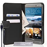 Yousave Accessories HTC One M9 Plus Tasche Schwarz PU Leder