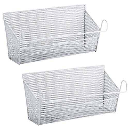 Nachttisch-organizer (Tosbess 2 Stück Bett Hänge Organizer Nachttisch zum Einhängen Hängeregal Taschen Halter, ca.39 X 10 X18cm)
