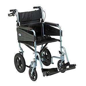 Days Escape Lite Aluminium Wheelchair, Lightweight and Foldable Frame, Attendant-Propelled Wheelchair