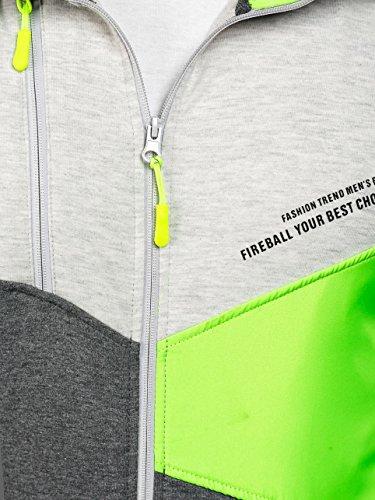 BOLF Kapuzenpullover Sweatshirt Hoodie Kapuze Pullover mit Reißverschluss Mix 1A1 Anthrazit_RD_1113