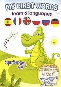 My First Words - CD-Rom d'apprentissage 6 langues étrangères pour enfants : anglais, allemand, français, espagnol, russe, polonais