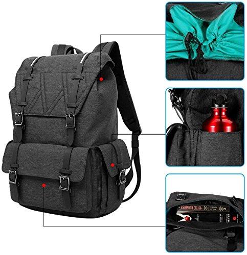 """MOCA Canvas 15.6"""" Black Laptop Backpack Image 9"""