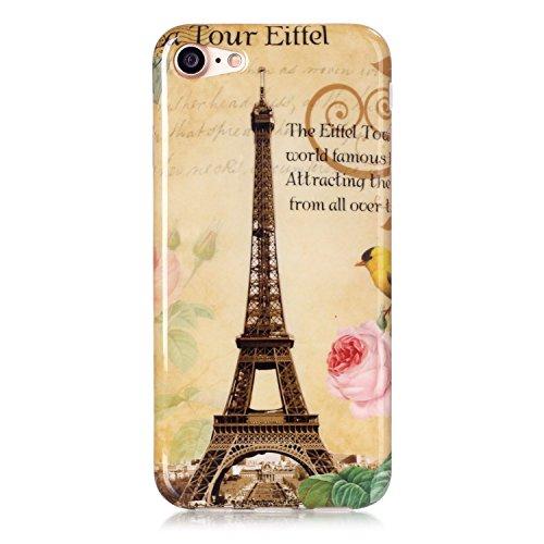 TPU Silikon Schutzhülle Handyhülle Painted pc case cover hülle Handy-Fall-Haut Abdeckungen für Smartphone Apple iPhone 7 (4.7 Zoll) +Staubstecker (6GW) 4