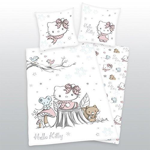 Bettwäsche Herding Flanell Hello Kitty Geschenk COOL 135 x 200 cm NEU WOW