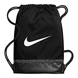 Nike BA5338-010, Borsa Unisex Adulto, Black/Black/White, 48.5 x 38 x 5 cm
