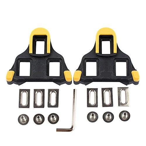 Beststar tacchetti per bici –tacchetti per pedali autobloccanti –tacchetti per Indoor Cycling e bici da strada, compatibile con Shimano & scarpe Look # 81539., Yellow