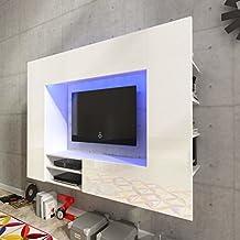 Tidyard Mueble Salón Comedor Moderno Mesa para TV Mueble TV de Pared con LED y 2