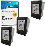Printing Pleasure 3 XL Tintenpatronen kompatibel zu HP 350XL für Photosmart C4280 C4340 C4380 C4480 C4485 C4580 C5280 D5360 Deskjet D4260 D4360 Officejet J5780 J6410 J6415 - Schwarz, hohe Kapazität