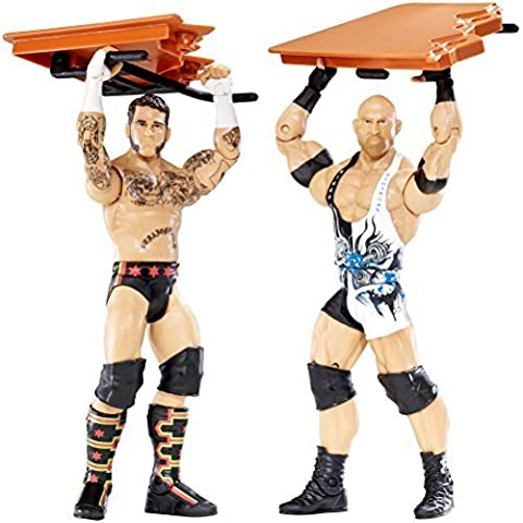 WWE Battle Pack: CM Punk vs. Ryback with Table Figure (2-Pack) by Mattel