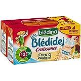 Blédina blédidej brique de lait et céréales saveur choco vanille 4x250ml dès - ( Prix Unitaire ) - Envoi Rapide...