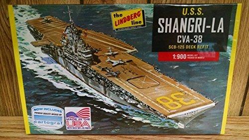 lindberg-hl442-uss-shangri-la-cva-38-aircraft-carrier-1900-scale-plastic-model-kit-requires-assembly