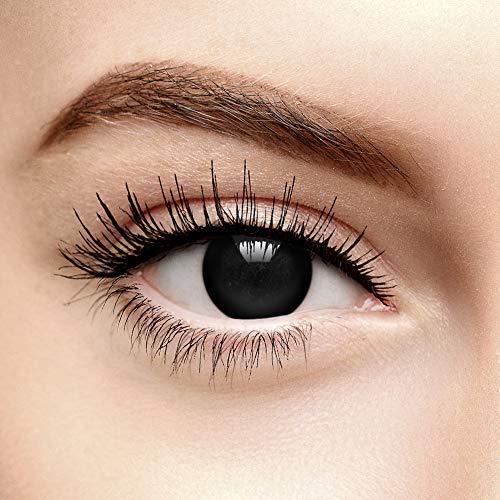 Coloured Contacts Halloween Farbige Kontaktlinsen Ohne Stärke Blind Schwarz (90 Tage)