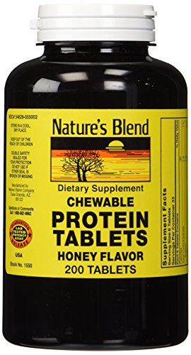 Nature's Blend Protein Tablets Honey Flavor 200 Tablets by Nature's Blend