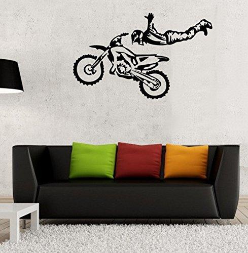 Adesivo da parete Freestyle motocross, Vinile, nero, Small