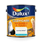 Dulux Easycare Washable and Tough Matt Paint - Jasmine White 2.5L