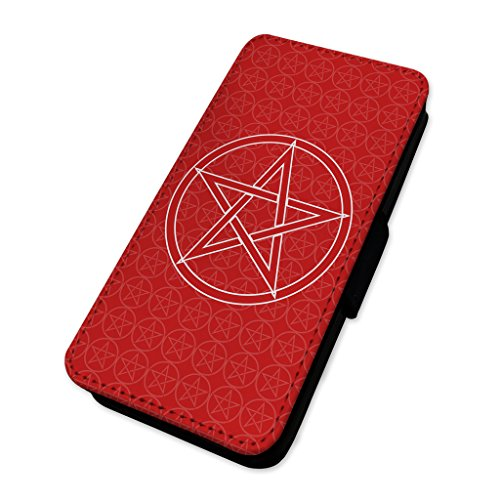 Pentagram Star design–Custodia ad aletta in pelle copertura di carta Apple Iphone 8 Plus