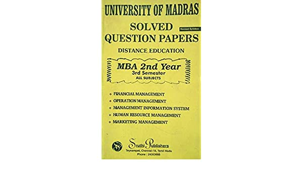 Amazon in: Buy University of Madras solved question papers